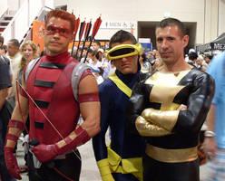 Red Arrow Cyclops Black Adam by mjac1971