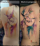 Freehand abstract tattoo