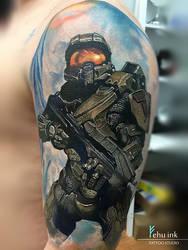 Halo tattoo