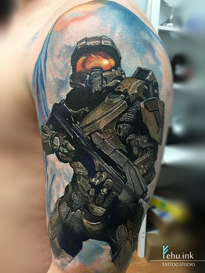 Halo tattoo by ellegottzi