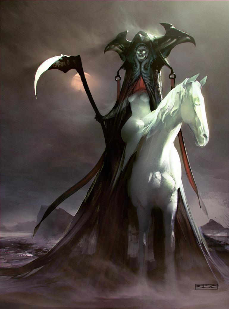 Horsewoman of death by SimonDubuc