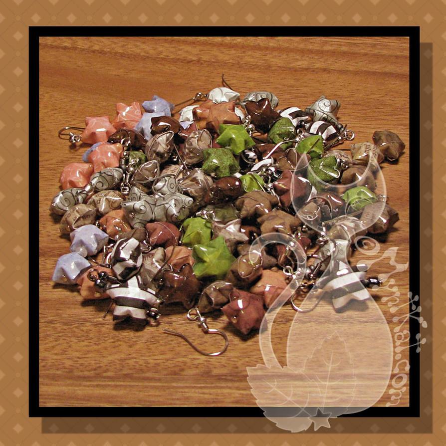Paper Star Earrings by MyntKat