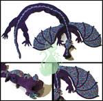 Purple Dragon Scarf