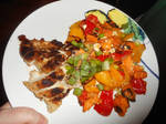 Chicken with a Sweet Potato Bell Pepper and Feta by NoireComicsStudio