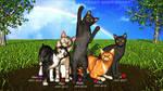 Our Rainbow Bridge Kitties by NoireComicsStudio