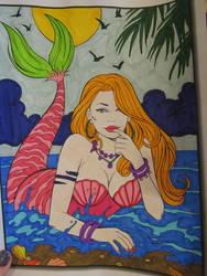 Mermaid Coloring Fun!