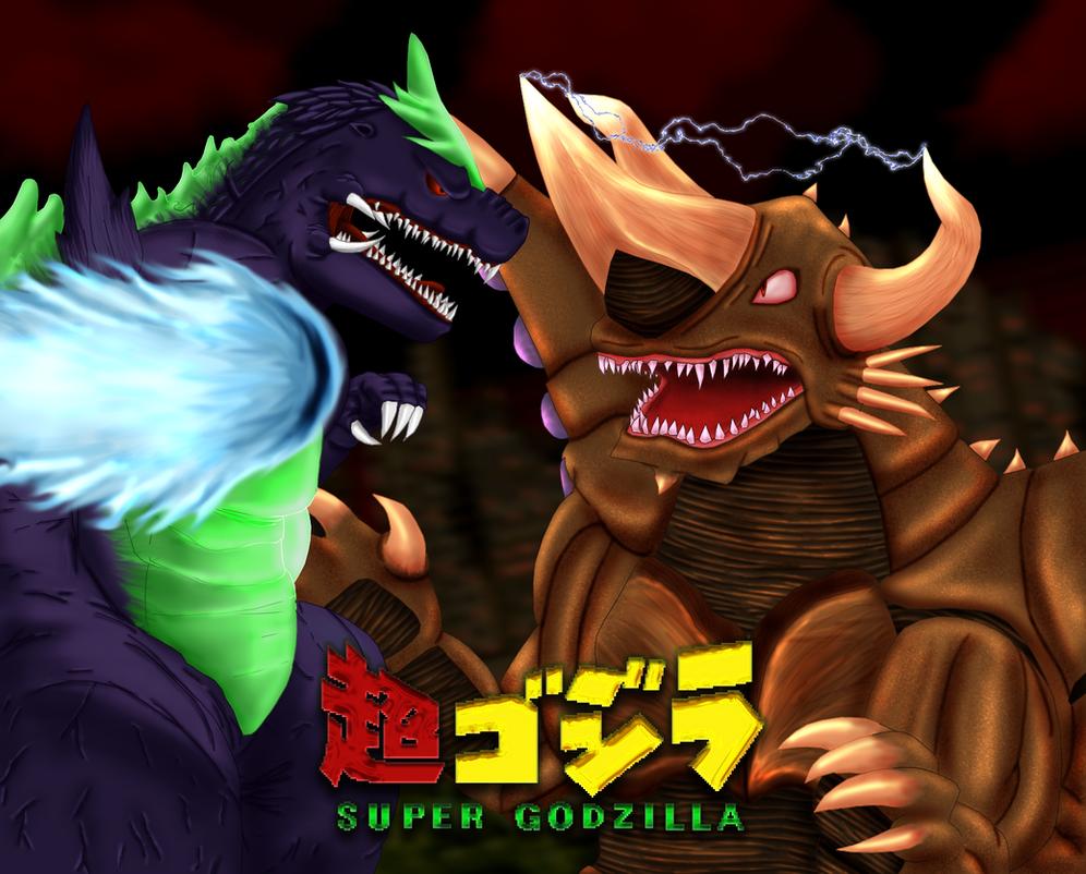 Colossal Clash: Super Godzilla VS. Bagan by Steelia