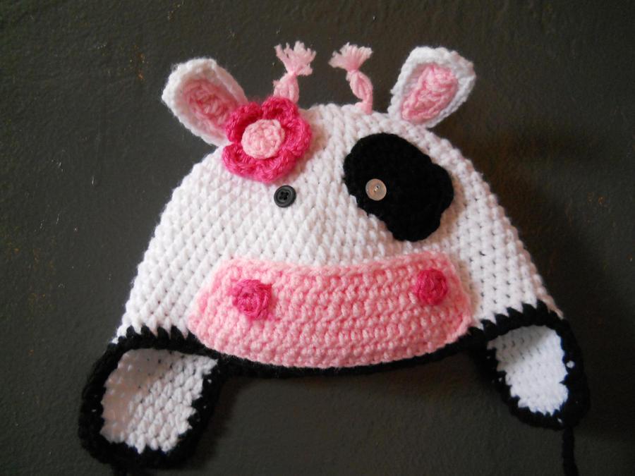 Crochet Pattern Cow Hat : Crochet Cow Hat by Twitcorn on deviantART