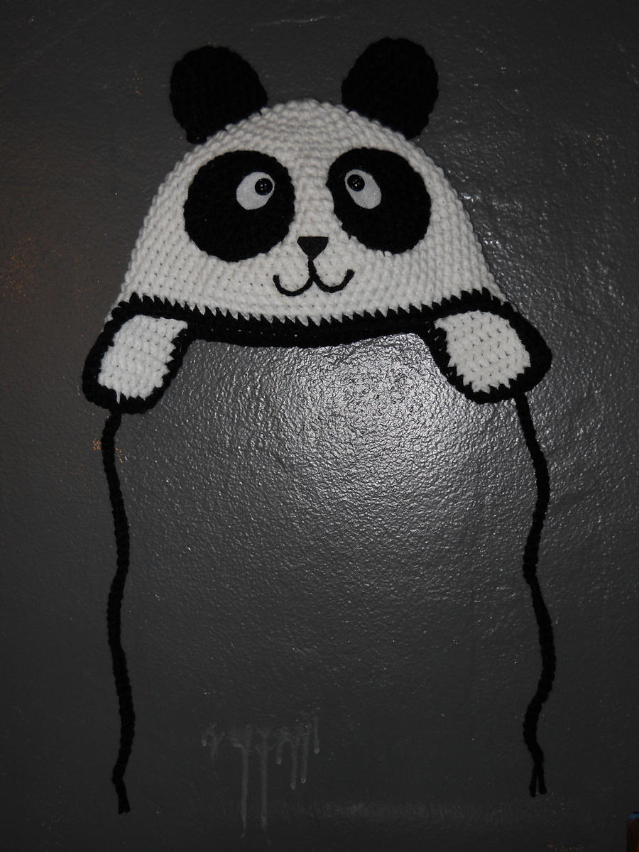 Free Crochet Pattern Panda Bear Hat : Crochet Panda Hat - original by Twitcorn on DeviantArt