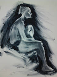 Model Fingerpainting 2 by Sxey