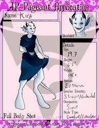 Kira Pageant Entry by ghostlysilver