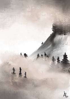 Is that a cat? Mist and mountain