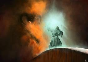 Gandalf vs Balrog in Moria - Lord of the Rings by jakub-radl