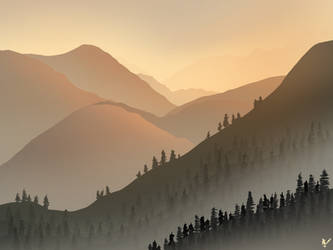 Sunrise in the Alps