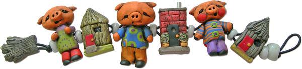 3 pigs bracelet by moodywoods