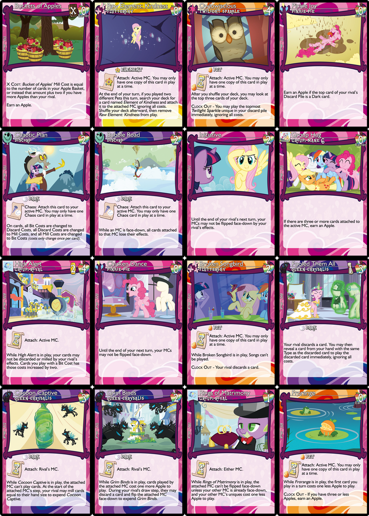 2.0.3.1 Update for MLP:DCG (Unofficial Card Game) by masterage