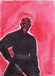 Sketch Card Darth Maul by Giorgia99