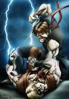 Ryu vs Ken by Matelandia