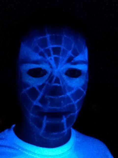 0e52d352b Spider-Man Blacklight Face Tattoo by CobaltGhost on DeviantArt