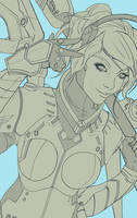 Mercy Wip Lineart by peter83