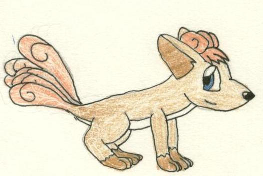 It's me in Vulpix form. by Mareo-and-Anime
