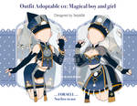 [closed] outfit adoptable 01 magical boy and girl