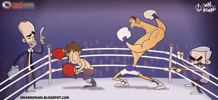 messi vs ronaldo 2011. Messi vs Ronaldo by ~omomani