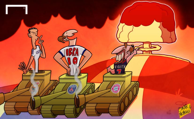 Ronaldo, Ibrahimovic and Ribery by OmarMomani