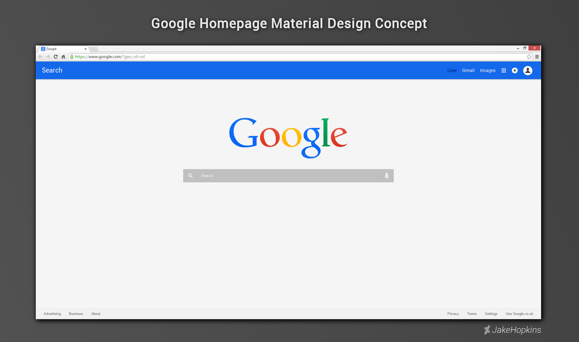 google home page design. google homepage material design concept by jakehopkins home page