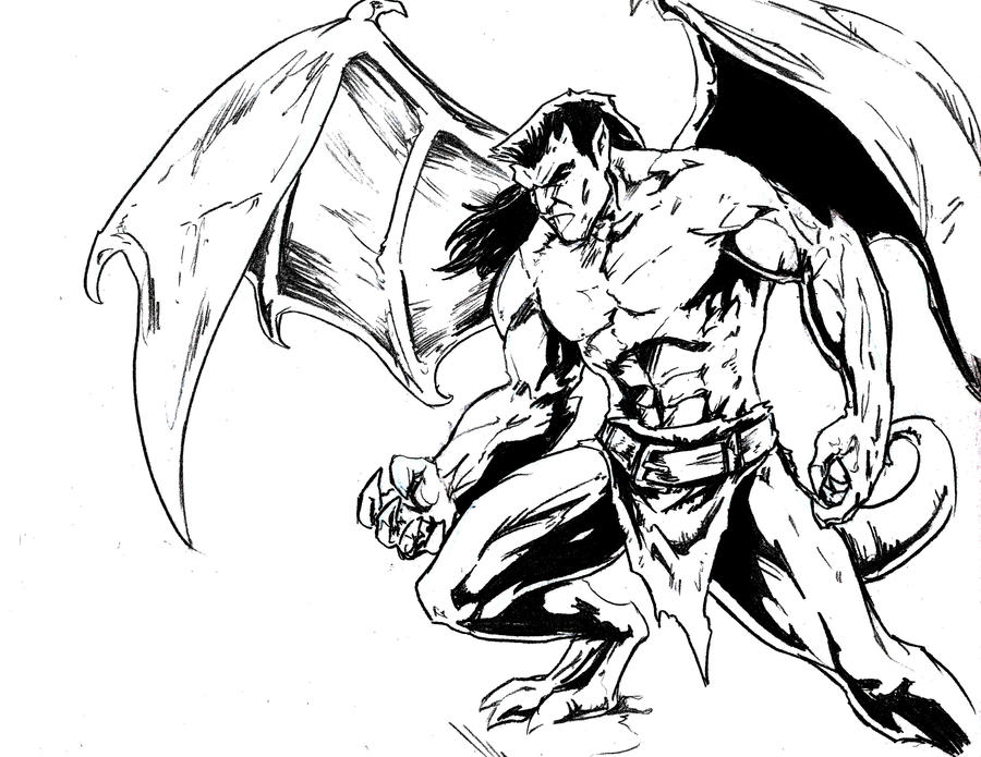 gargoyles coloring pages - photo#29