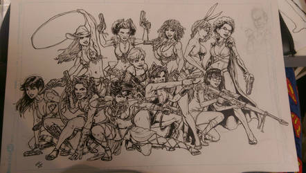 Las Locas pin up for issue 5 by kelbykross