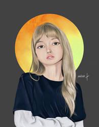 BLACKPINK Lisa Fan art (Black)