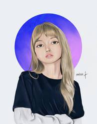 BLACKPINK Lisa Fan art (White)