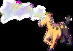 Girafarig used Psybeam!