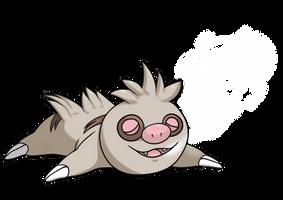 Slakoth used Yawn!