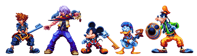 Kingdom Hearts 2 crew by Zenaki