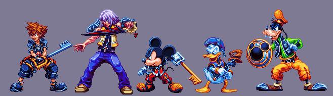 Kingdom Hearts 2 crew by Zenaki