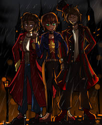 Commission - Jacob, Evie Sinclair and Ari Lucetta by ichimoral