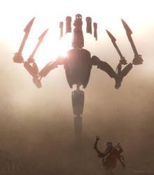 Inc God Robot 1 Defends 4 by ArtOfSoulburn