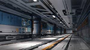 Ship Jumper Starship Hallway 2 by ArtOfSoulburn