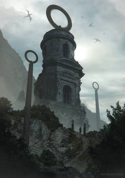 Foggy Morning At The Abandoned Tower