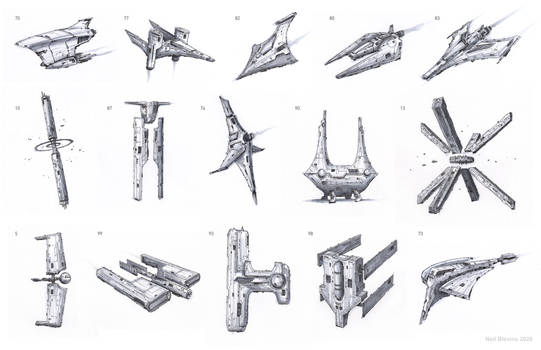 Space Ship Doodles 2020