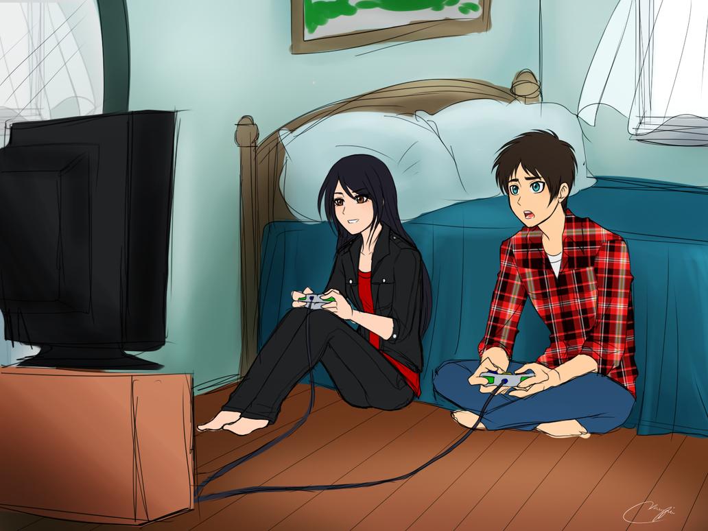 Playing Video Games Eren X Veena