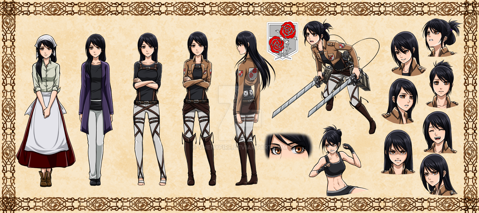 Anime Characters 153 Cm : Veena roza snk oc by vhenyfire on deviantart