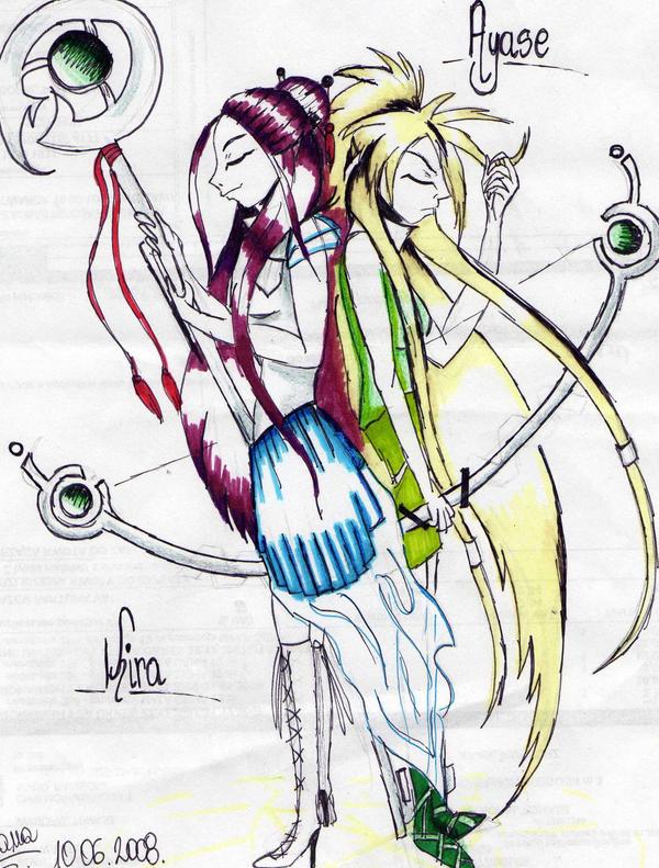 Ayase and Kira by rokusanchan