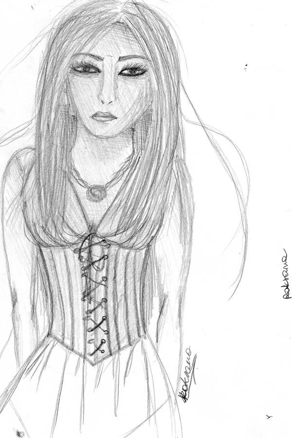 Sad girl by rokusanchan