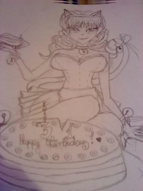 Happy Birthday Kitty by rokusanchan