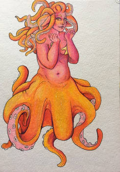 Mermaid AU for an OC
