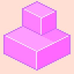 Pixel Cube Pink