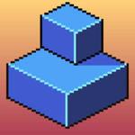 Pixel Cube Blue